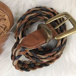 Vintage Braided Leather Belt